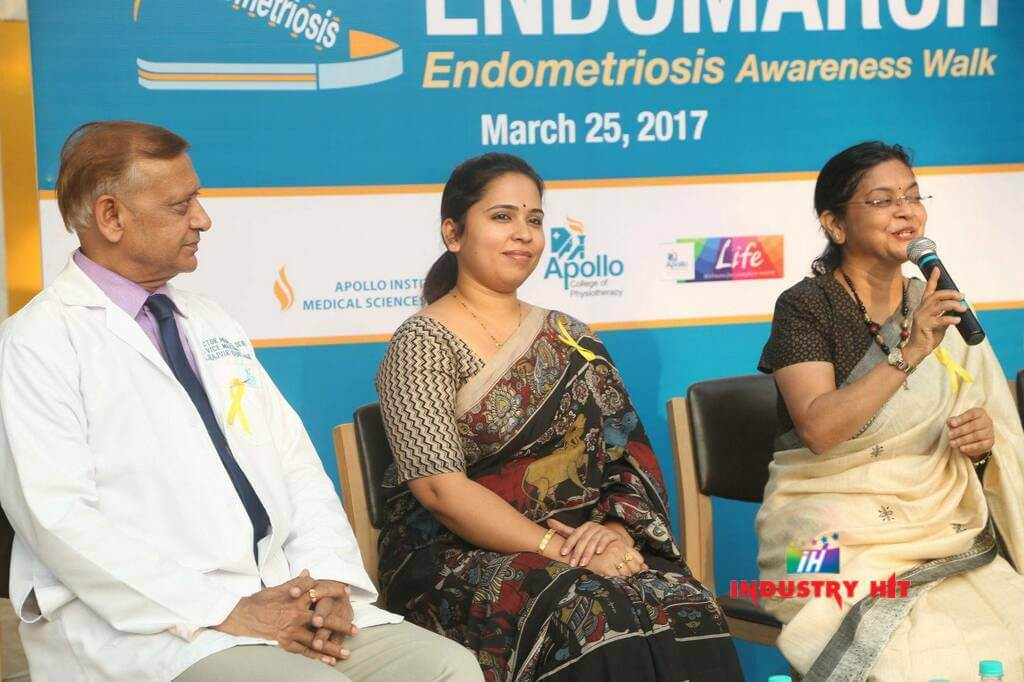 Ms. Sangita Reddy flagged off the EndoMarch organised at Apollo Cradle, Hyderabad to raise awareness on Endometriosis